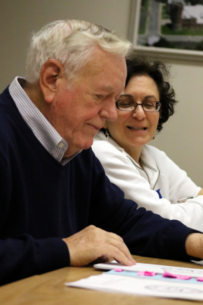 Incoming Council member Melissa Nicosia's fresh perspective cut through the accretions: Qualifications contained in the Oneonta City Charter matter. With her is fellow charter review member David W. Brenner.