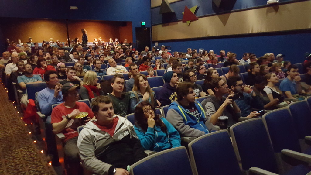 It was a nearly full house at Southside Mall cinemas for tonight's first screening of the eagerly anticipated Star Wars: The Force Awakens. While costumes are no longer permitted in the theaters, may came dressed in their favorite Star Wars attire. How good is it? You'll have to find out for yourself! (Ian Ausitn/AllOTSEGO.com)