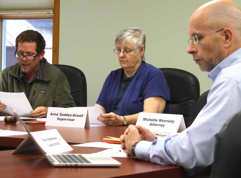 Supervisor Anne Geddes Atwell presides at an Otsego Town Board meeting earlier this year. (AllOTSEGO.com photo)