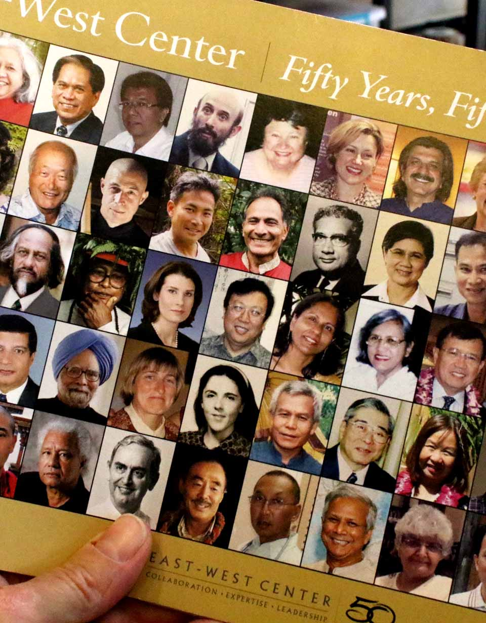 Malhotra continues to return to East-West Center reunions. His photo is on the front page of the 50th anniversary commemorative brochure, two rows above Stanley Ann Dunham, Barack Obama's mother, who attended a few years before Ashok.