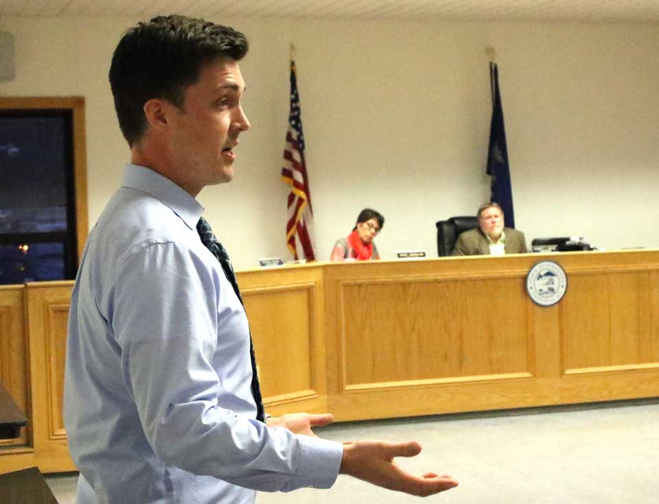"County Rep. Andrew Stammel, D-Town of Oneonta, spoke in favor of approval of the two water districts. ""If we don't have quality water, homes have no value, so I strongly urge you adopt it."" (Ian Austin/AllOTSEGO.com)"