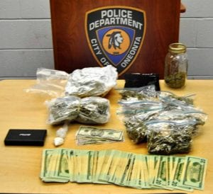 Oneonta Police seized cocaine, marijuana and cash from a Hartwick College dorm room.