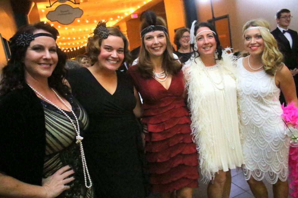 Julia Goff, Angie Eickler, Teri Basdeckis, Rachel Shaughnessy and Debbi Iannelli are dressed to the nines at the annual Fox Gala this evening. The secret password gained you entry to the Speakeasy-themed soiree at the Foxcare Center, which featured dancing, dining and drinks. Live music was provided by The Blues Maneuver, with special guests The Honey Taps from NYC and more! (Ian Austin/AllOTSEGO.com)