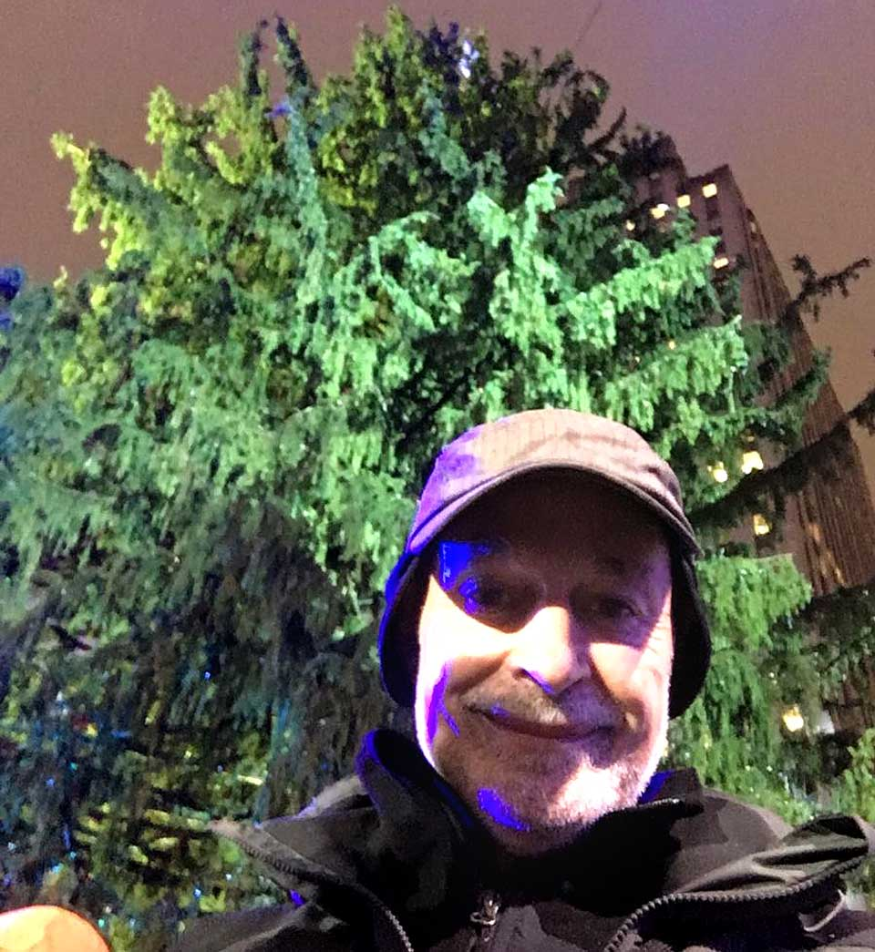 Oneonta Mayor Gary Herzig sent along this selfie of himself the the Eichler family's big spruce from a VIP section at the foot of the tree, a few steps from the famed Rockefeller Center ice rink, where the 95-foot-tall tree is scheduled to be illuminated at 8:55 this evening.