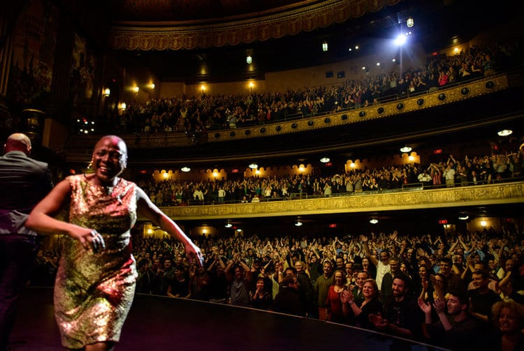 Image of Sharon Jones performing is from the Glimmerglass Film Days site.