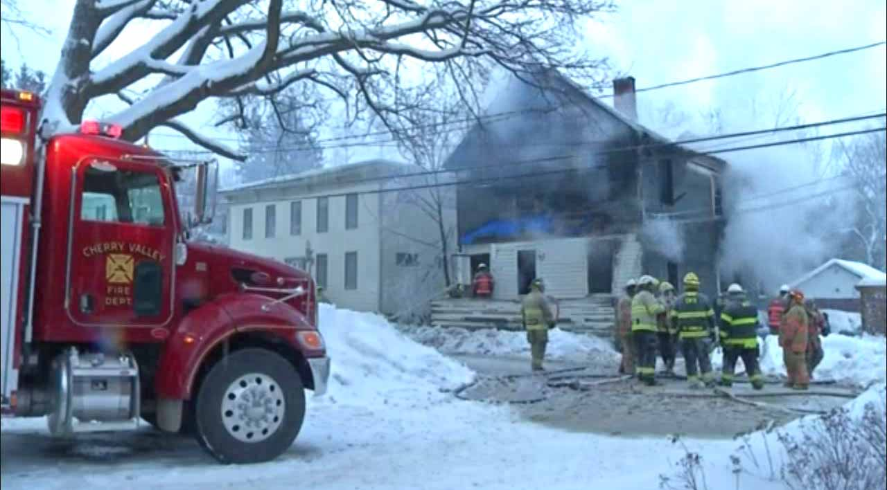 New york otsego county cherry valley - A Screenshot Of This Morning S Fatal Fire In Cherry Valley Taken By The Time Warner Cable News Crew
