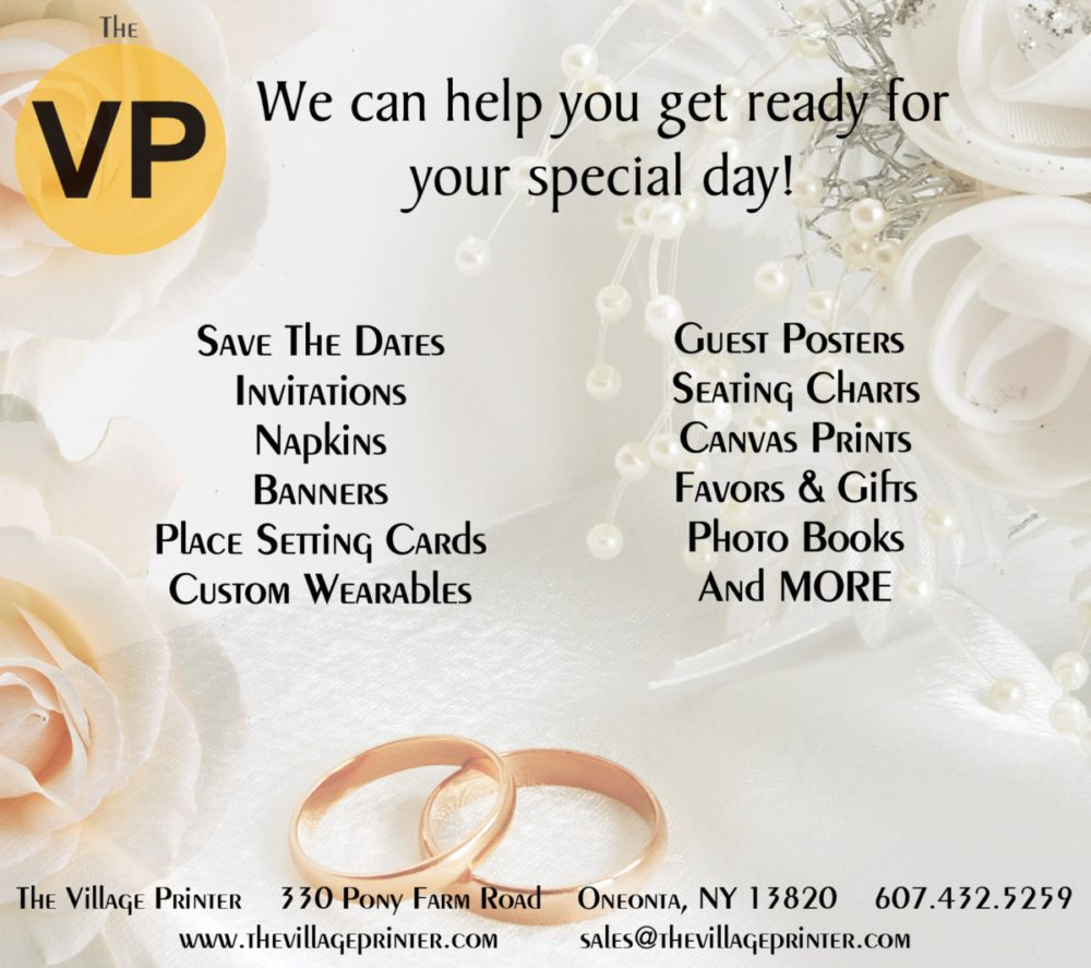 the village printer wedding ad