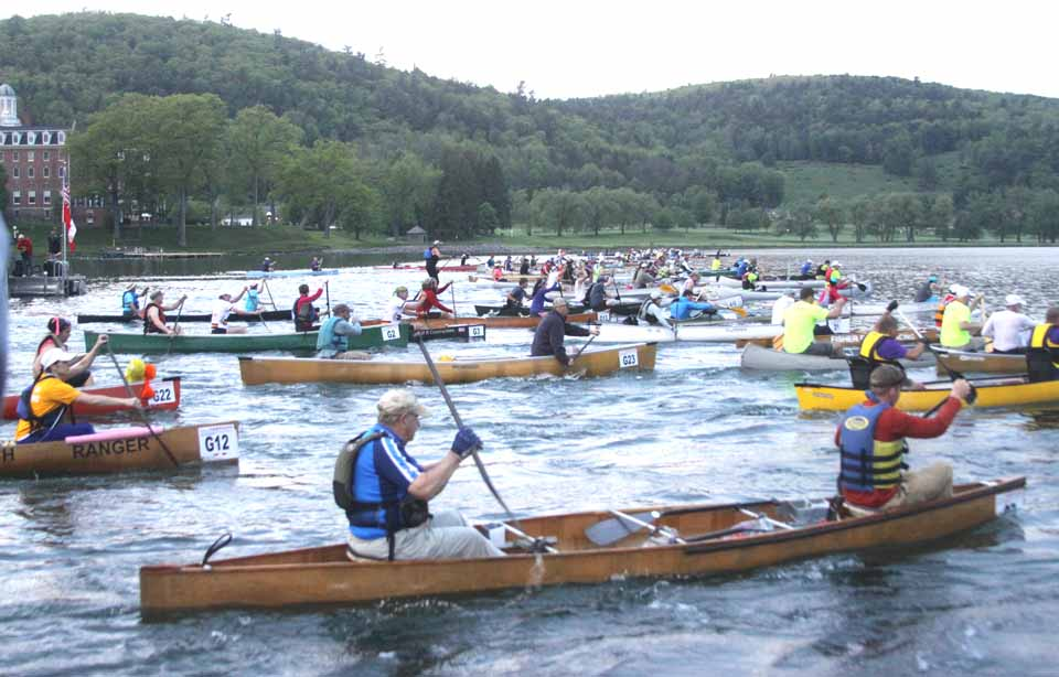 The first racers depart at 6 a.m. today from Cooperstown's Lakefront Park in the 52nd annual General Clinton Canoe Regatta.  (Jim Kevlin/allotsego.com)