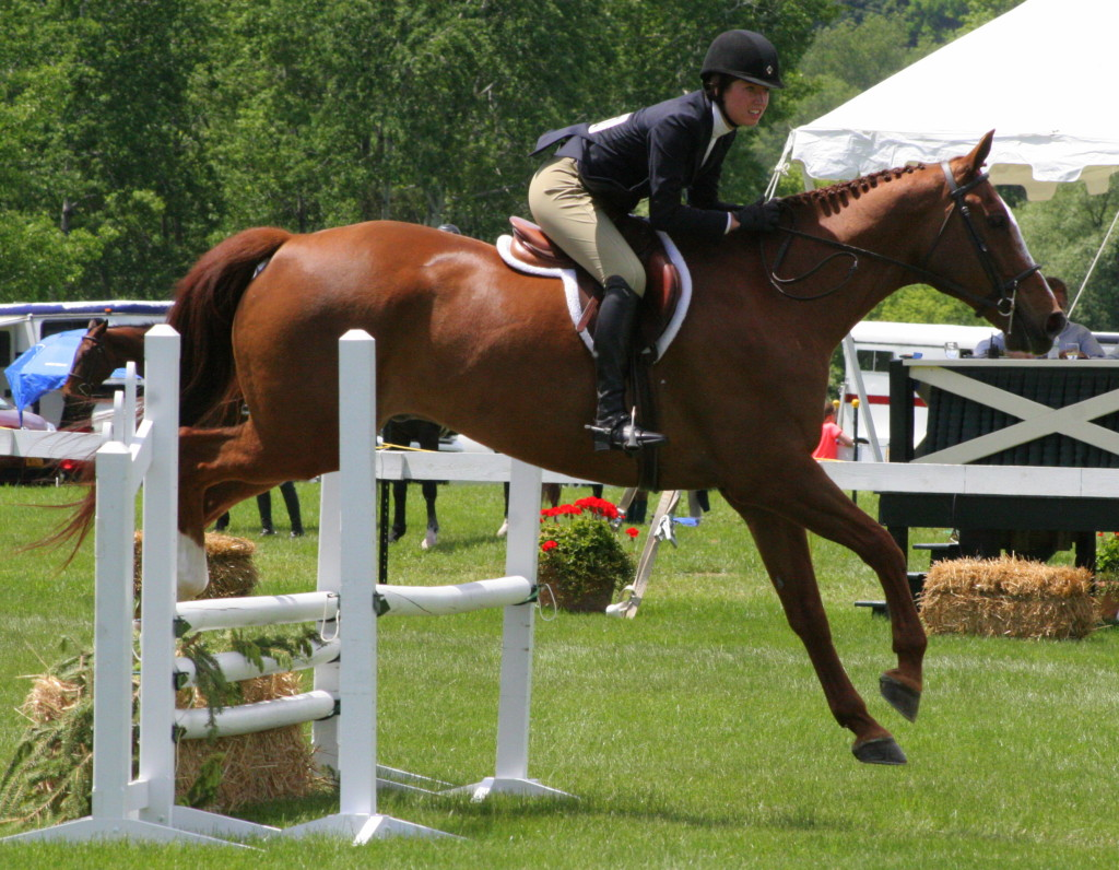 Taylor Twombly, Oneonta, on her horse Dominator during one of her runs on Sunday afternoon.