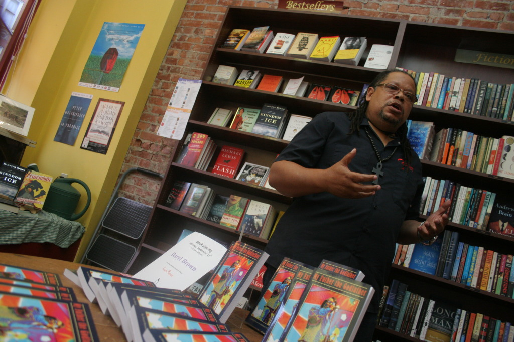 Daryl Brown, son of the musical ledgend James Brown, was at the Green Toad on Saturday promoting his new book My Father The Godfather. (Ian Austin/ allotsego.com)