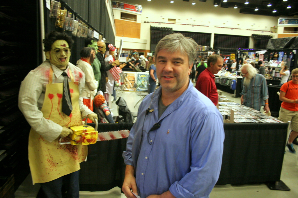 J.V. Johnson on the main floor of his brainchild Scare-A-Con, which was held this past weekend at Turningstone Casino and featured many celbrities of the horror movie genre as well as many panels from people in the industry.