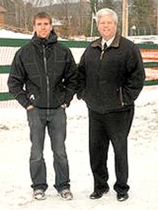 Oneonta's new city manager Martin Murphy, right, while he was Saranac Lake village manager.