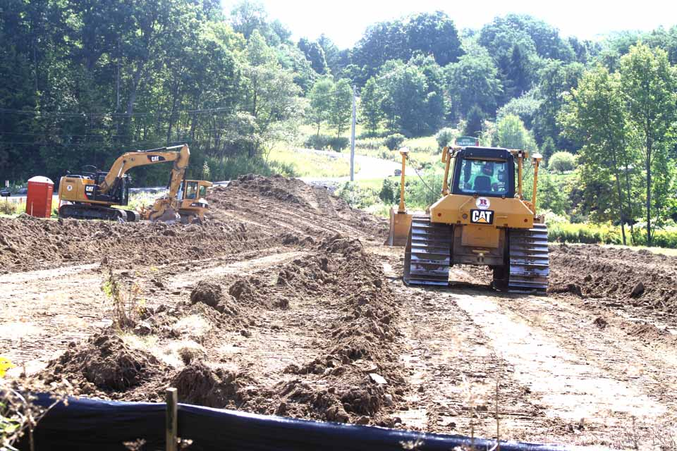 You may have noticed earthmoving has begun at the prospective site for a Buffalo Wild Wings franchise on Southside Oneonta, behind and adjacent to Wendy's.  (allotsego.com photo)
