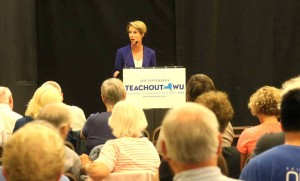 Zephyr Teachout, the Fordham University law professor. who challenged Governor Cuomo in today's Democratic primary, appeared in Otsego County twice during the campaign.  (allotsego.com)