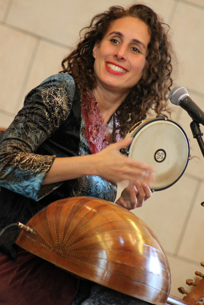 Internationally renowned musician and singer Basya Schechter and the Pharoh's Daughter Trio preformed at Oneonta's Temple Beth El on Sunday. When Schechter is not playing in the B'Nai Jeshurun music ensemble in NYC, she tours through America, Eastern and Western Europe, Greece and the UK. She was joined by violinist Meg Okura, (who has recorded with David Bowie, Phillip Glass and Micheal Brecker) and Improv Musician Brian Marsella (who has played Jazz at the LIncoln Center, Central Park Summer Stage, NYC Winter Jazz Festival and the Montreal Jazz Festival.