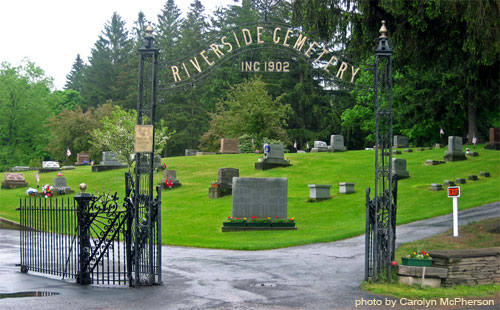 Oneonta's Riverside Cemetery, behind the First Presbyterian Church, is eternal home to most of Oneonta's First Families.