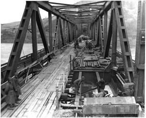 The bridge at Remagen was the last span over the Rhine that hadn't been destroyed by the Germans as the Allies invaded Germany at the end of World War II.
