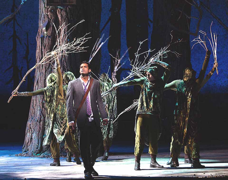 "Sean Panikkar is Tamino in The Glimmerglass Festival's 2015 production of Mozart's ""The Magic Flute,"" which is transported to the woods of the Northeastern U.S.   The performance is director by Madeline Sayet, a Mohican princess. Dory Schultz/The Glimmerglass Festival)"