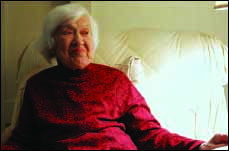 Mildred Wedderspoon on her 100th birthday.  (Ian Austin/The Freeman's Journal)