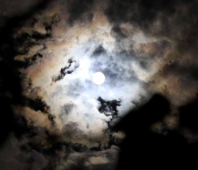 A rare blue moon – a second full moon in the same month – looked down on Otsego County overnight Friday-Saturday.  Because of its rarity, the blue moon is the inspiration of many a song and aphorism.  (allotsego.com photo)