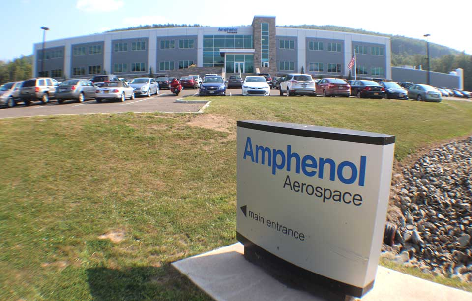 The State of New York contributed $20 million to Amphenol's new plant on the Back River Road, Sidney, and also assured the Connecticut-based company there would be a ready supply of natural gas from the Constitution Pipeline. (Ian Austin/allotsego.com)