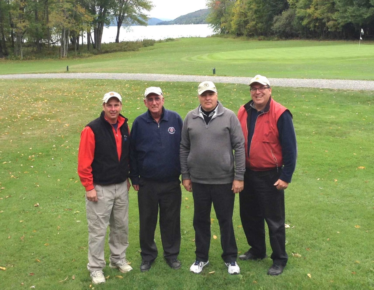 The Cooperstown Diner team – from left, Jeff Wait, Earle Hayford, Joe Spytko, John Hart – won the 17th annual Cooperstown Chamber of Commerce Golf Tournament Saturday at the Otsego Golf Club at the north end of the lake.  Team Barraco and Leatherstocking Insurance tied for second place.