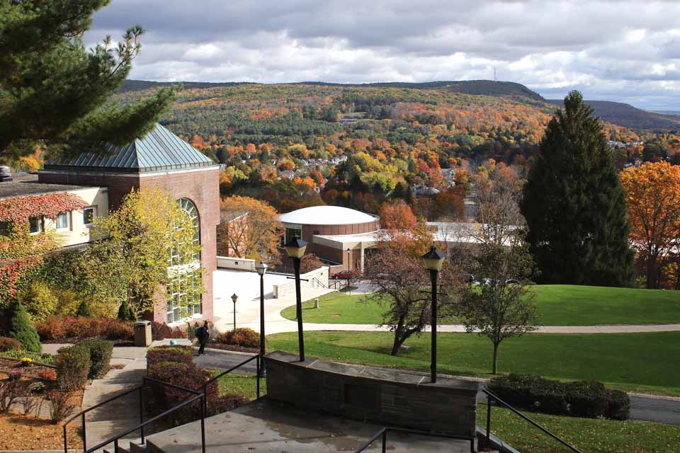 Autumn's waning colors were still brilliant from the steps of Hartwick College's Bresee Hall the other day. (Jim Kevlin/AllOTSEGO.com)