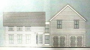 This is the line drawing Altonview Architects prepared for a replacement house at 76 Fair St., Cooperstown. The plan now appears to be off the table.