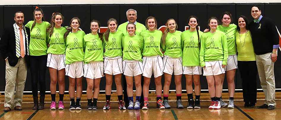 CCS' girls basketball team, and girls and boys teams in Cooperstown and Milford, helped raise $3,100 for the Bassett Cancer Institute over the weekend.