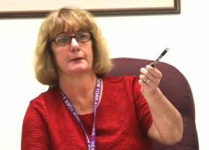 County Board Chair Kathy Clark, R-Otego, said the Otsego Now board needs more oversight. (Jim Kevlin/AllOTSEGO.com)
