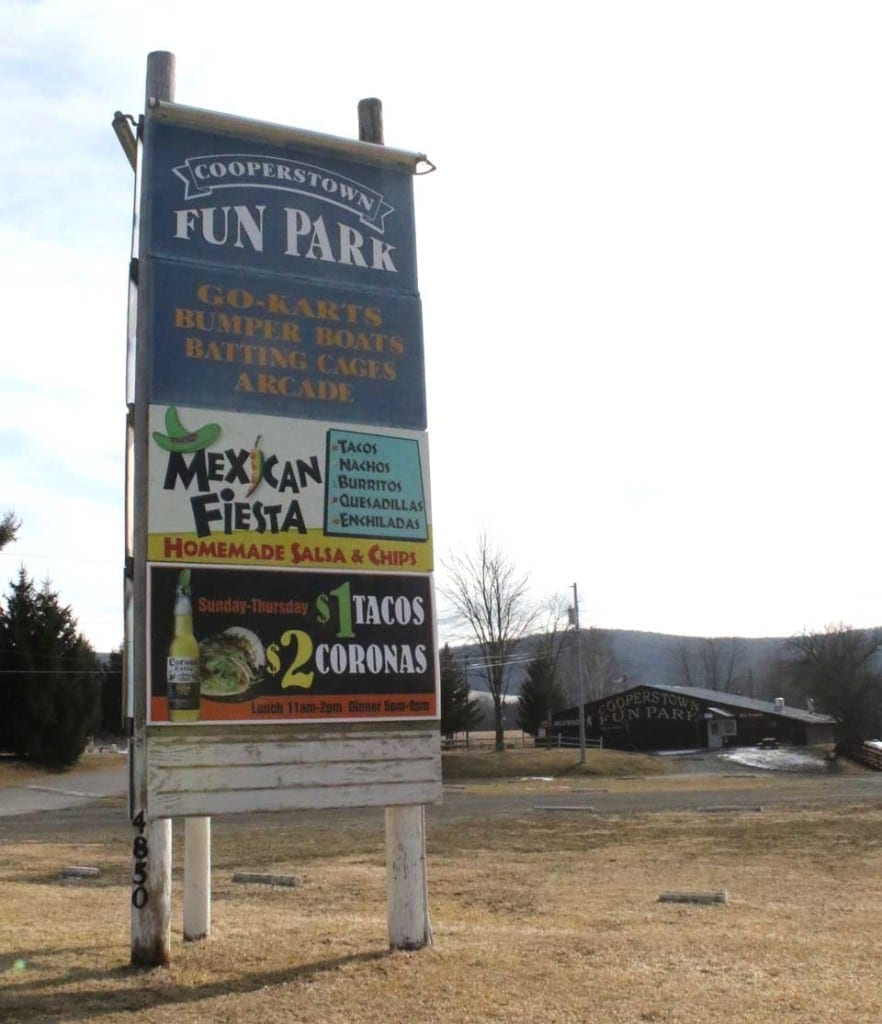 Mystery solve: The Coopertown Fun Park, 4850 Route 28 in Hartwick Seminary, is identified as the site for the proposed $400 million year-'round waterpark resort in the new report from Hotel & Leisure Advisors, Cleveland. (AllOTSEGO.com photo)