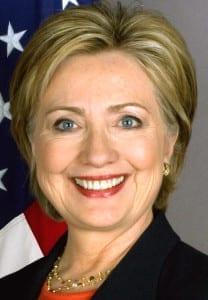 Hillary Clinton's official campaign portrait.