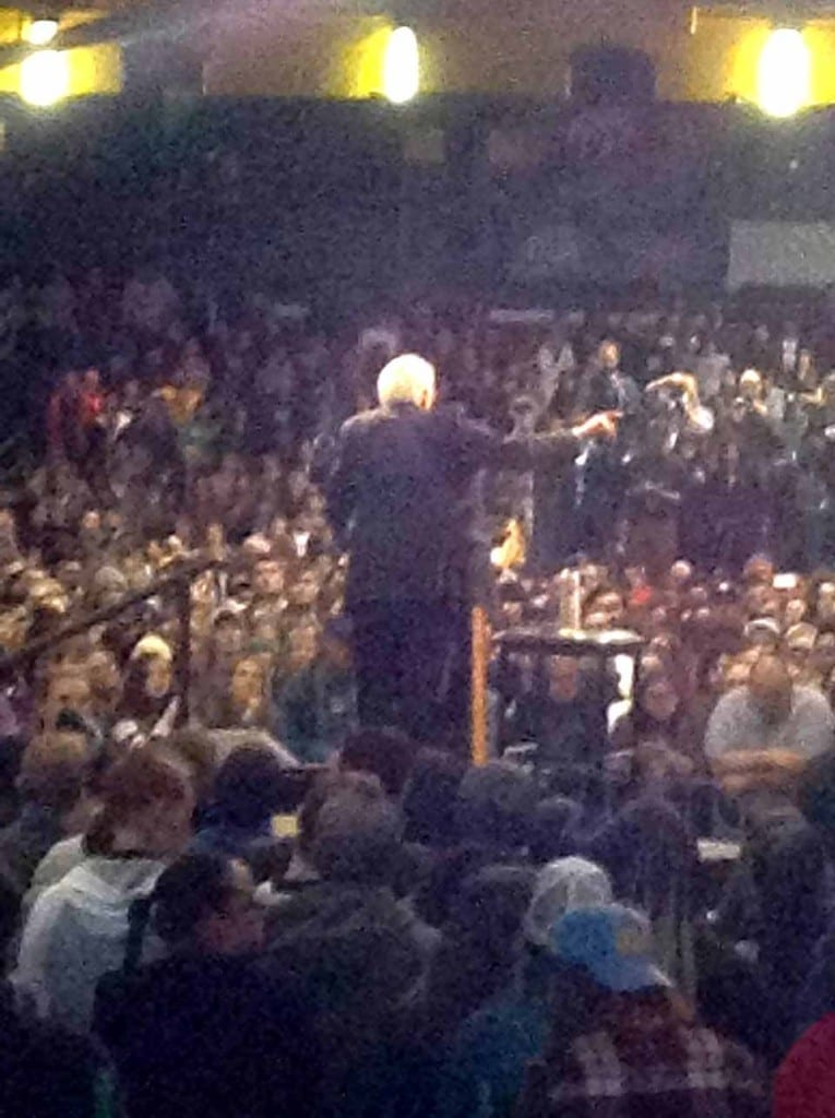 Phil and Leila Durkin of Roseboom were at Bernie Sanders' rally yesterday in Albany, and snapped this photo. If you attend a presidential rally in advance of next Tuesday's primary, please send photo to info@allotsego.com