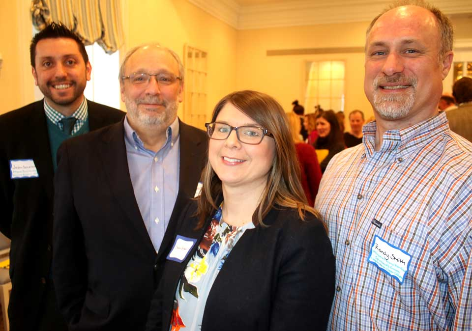 New Chamber directors elected this evening are, from left, Jason Schiellack, Hall of Fame; Randy Smith, manager, Spurbeck's Grocery and Cooperstown Cigar Co., Susan Strandberg Green, Paperkite Creative;