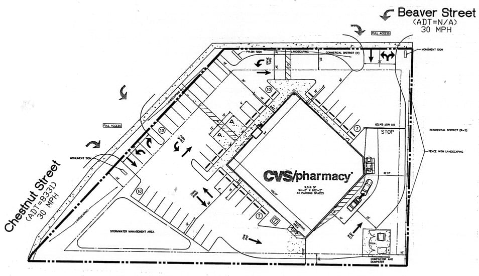 This site plan is part of the packet from CVS' developers that will be reviewed by the Cooperstown Village Board at its 6:30 p.m. meeting this evening.