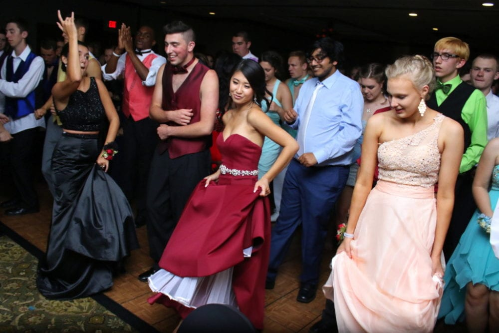 "The OHS class of 2016 enjoyed their senior prom at the Southside Holiday Inn last night, where food and revelries were had by all. Here Natasha Kashii, Tony Russo, Brittney Ngoyn, Bhanu Gaur, Tara Austin and Daniel Mazei dance to ""Cupid Shuffle"" by Cupid. The after-prom party was held in the cafeteria of the High School where students could partake in casino games and win a wide selection of prizes.(Ian Austin/AllOTSEGO.com)"