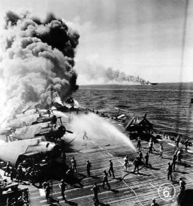 John Nowhitney's actions on Oct. 30, 1944, when the USS Belleau Wood was struck by a kamikaze, resulted in his induction into the state Veterans Hall of Fame more than six decades later.