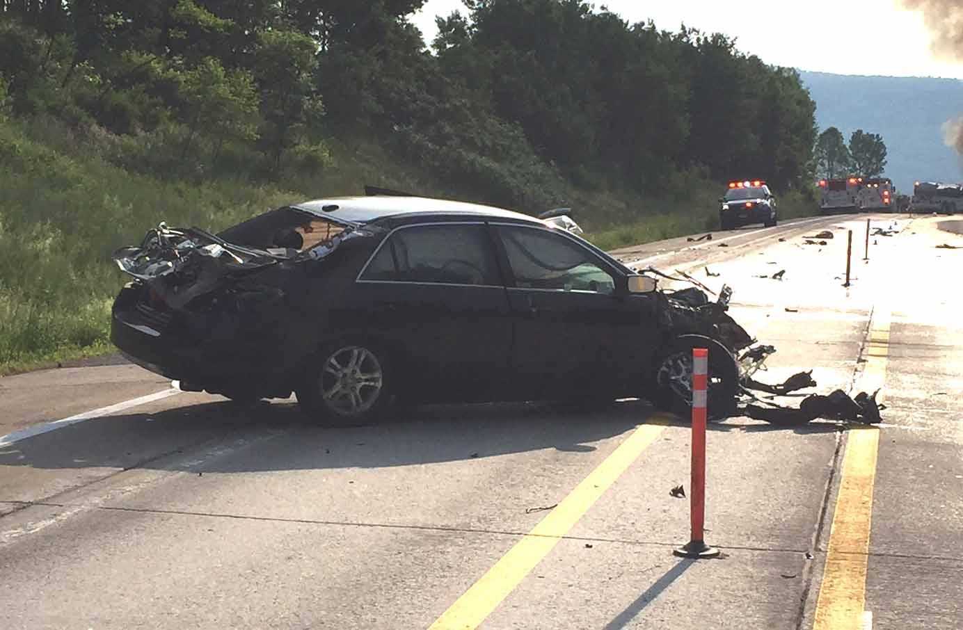 Car Hits Tractor Trailer; I-88 Closed Between Exit 12/13