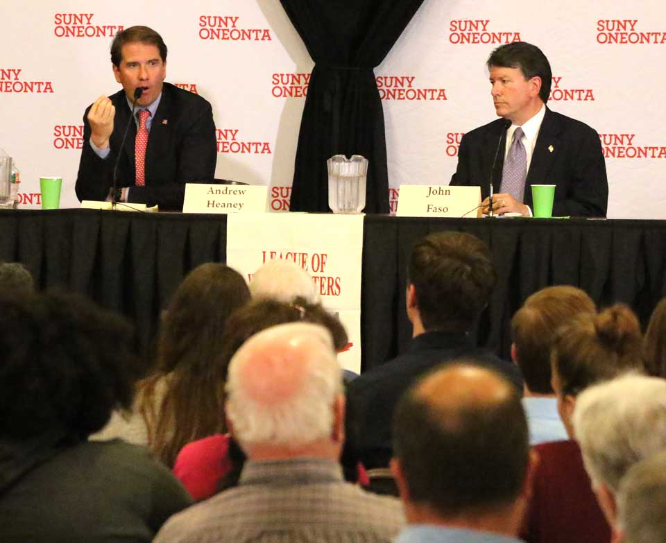 The two Republican candidates to succeed U.S. Rep. Andrew Heaney,
