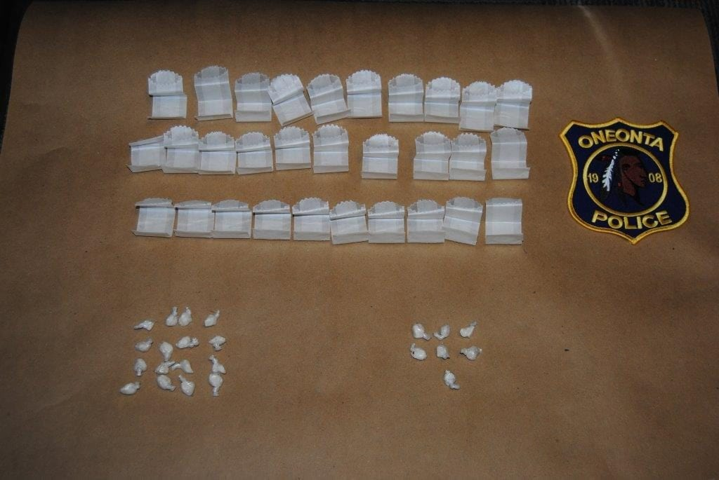 30 bags of heroin and 23 bags of crack cocaine were seized during a drug bust at the Budget Inn on Southside