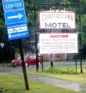 Police and emergency officials are worried next Friday's auction of Cooperstown Motel's contents will hinder emergency traffic on the main route to Bassett Hospital. (AllOTSEGO.com)