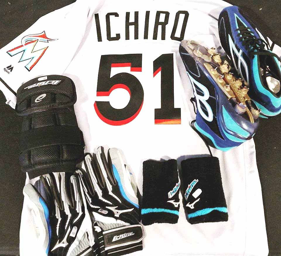 After achieving his 3,000th career hit at Coors Field in Denver yesterday, Ichiro Suzuki donated thejersey, spikes, batting gloves, wrist bands and elbow guard he was wearing when he his the record-making triple to the Baseball Hall of Fame, HoF President Jeff Idelson reported from the press conference at Marlin Field. He joins The Great One, Roberto Clemente, at the 3,000 mark, Idelson said.