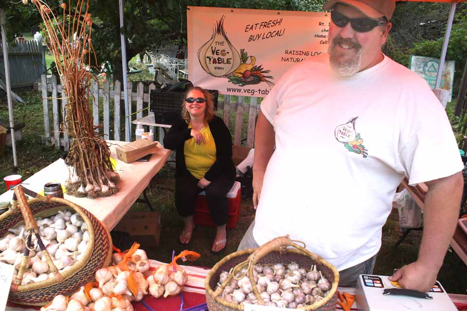 Again, Victor and Christie Erway of Roseboom were cornerstone vendors at the Susquehanna Valley Garlic Festival today at Woodbull Antiques in Milford. (Jim Kevlin/AllOTSEGO.com)