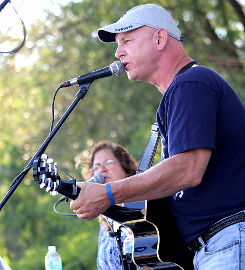 Feel like taking in a little music and a drink before the rodeo? Then stop on down to Damaschke Field where Lori French, husband Rick, Norwich, and the rest of their band Sundown keep your evening rocking until the rodeo begins at 7 p.m.  Concessions and beer tap are now open. (Ian Austin/AllOTSEGO.com)