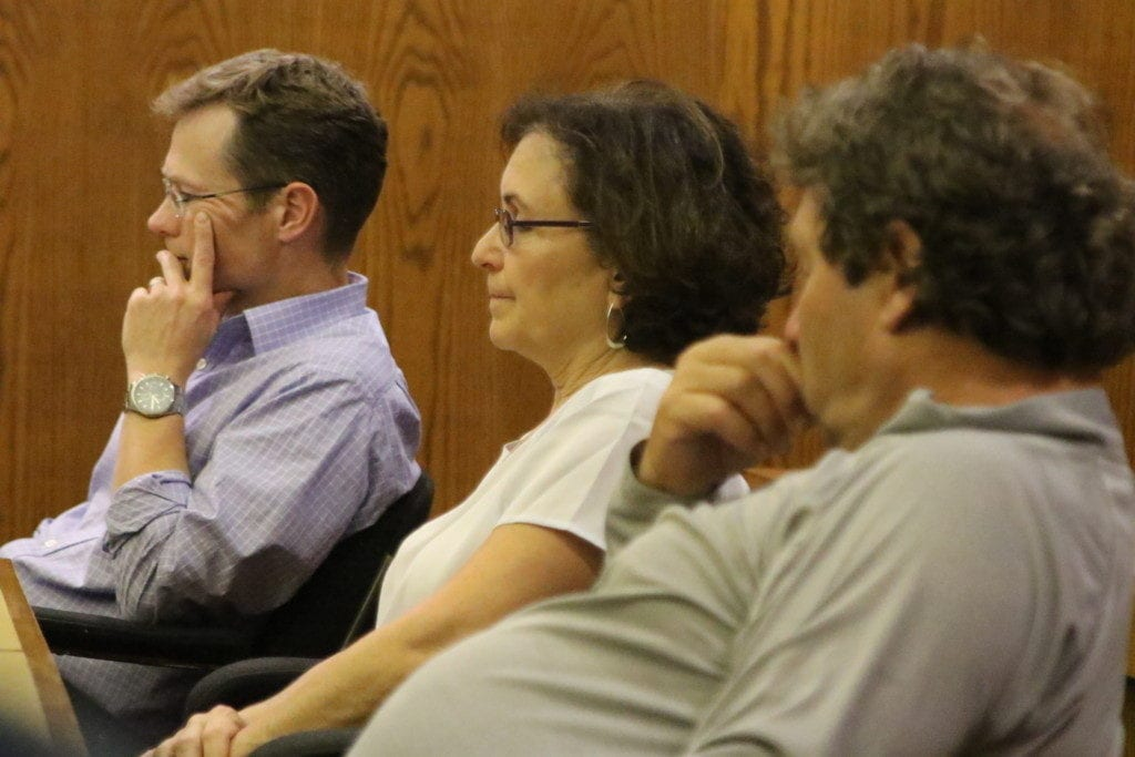 Council Members Paul van der Sommen, First Ward, Melissa Nicosia. Second Ward and David Rissberger, Third Ward, will all serve on the search committee for the next city manager, approved unanimously at tonight's Common Council meeting. (Ian Austin/AllOTSEGO.com)