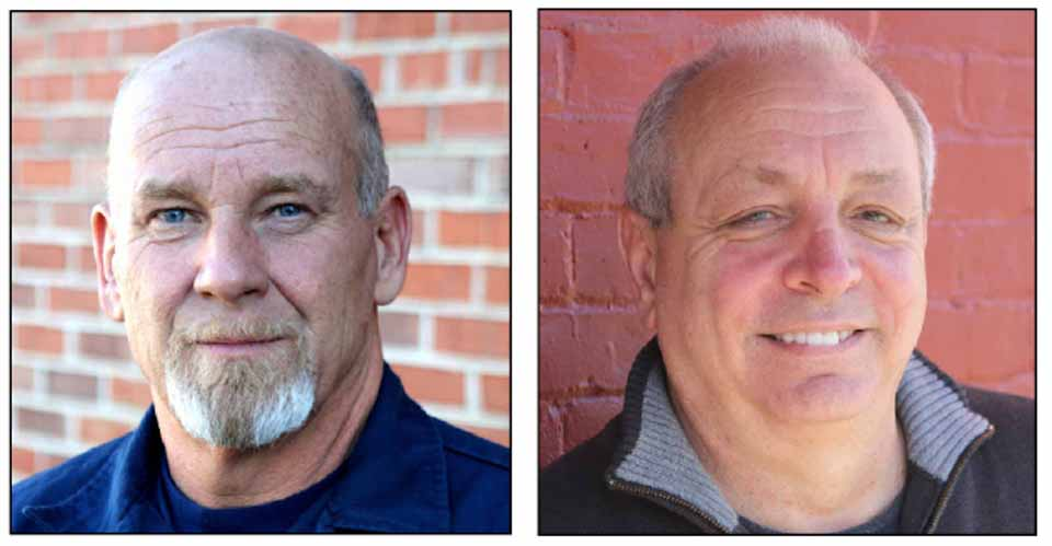 Randal I. Mowers, left, and Michael Stolzer are running for Oneonta Town Board in the Nov., 8 election.  Both have filled out Candidate Questionnaires, aimed at giving each a chance to outline his background and discussing current issues.