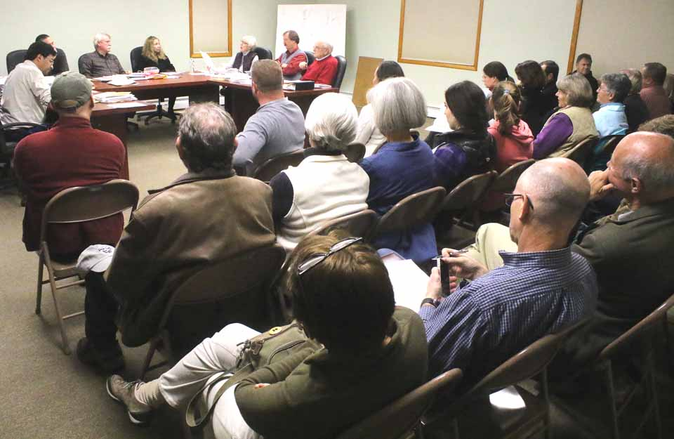 Thirty residents and Glimmerglass-side camp owners from around the former Hickory Run Restaurant on