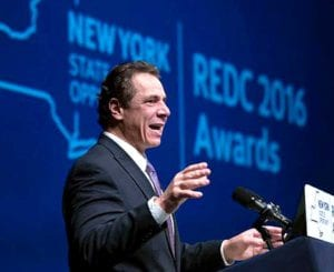 Governor Cuomo announced Regional Economic Development Corp. funding, including almost $7 million for Otsego County, at The Egg yesterday.